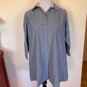 Rag & Bone Blue Chambray Denim Shirtdress Dress M